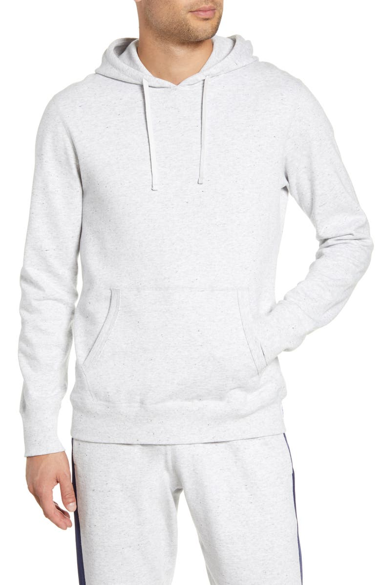REIGNING CHAMP Solid Hooded Sweatshirt, Main, color, ASH