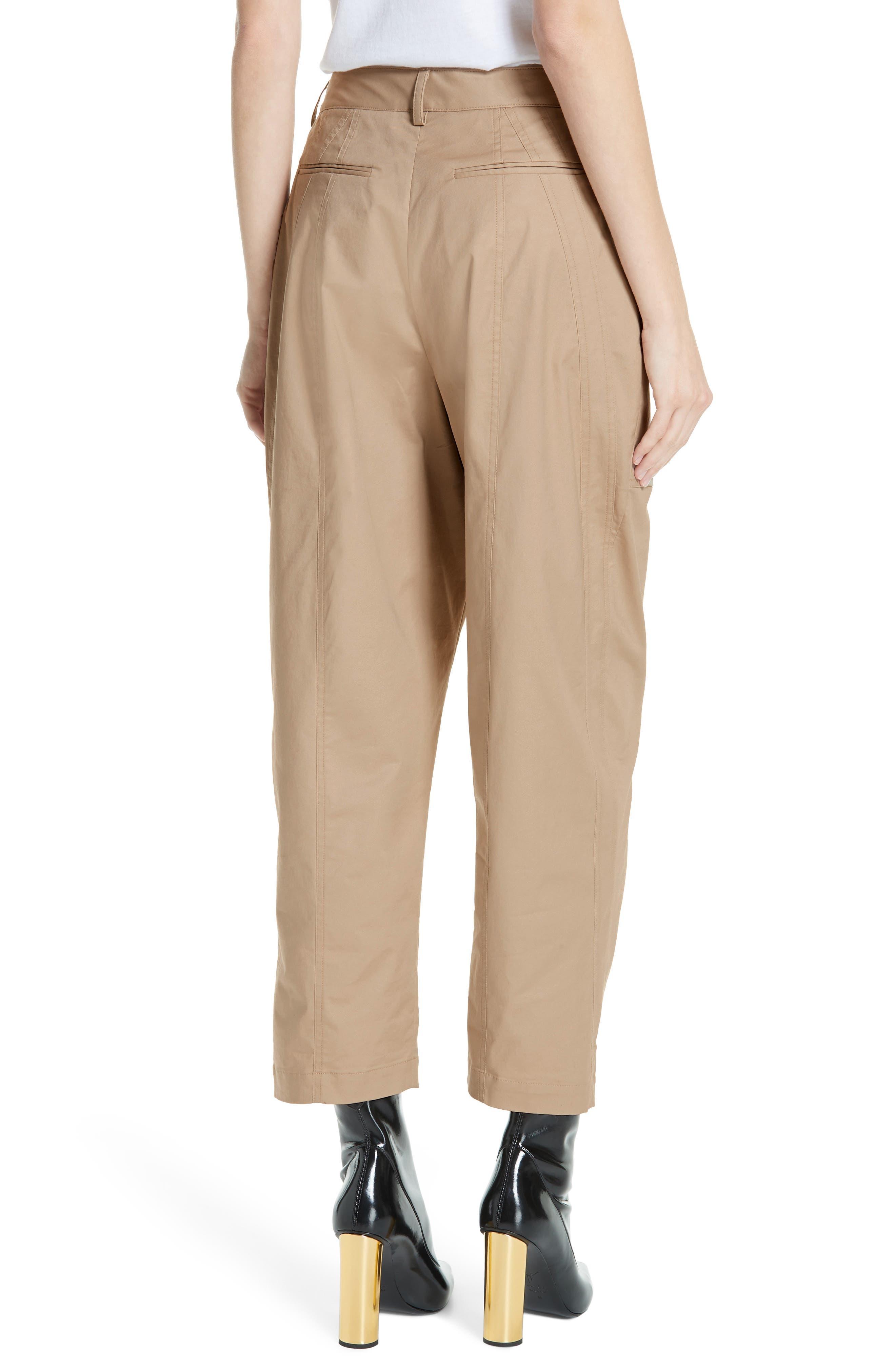 ,                             GREY Jason Wu Stretch Twill Straight Leg Pants,                             Alternate thumbnail 2, color,                             FLAXEN