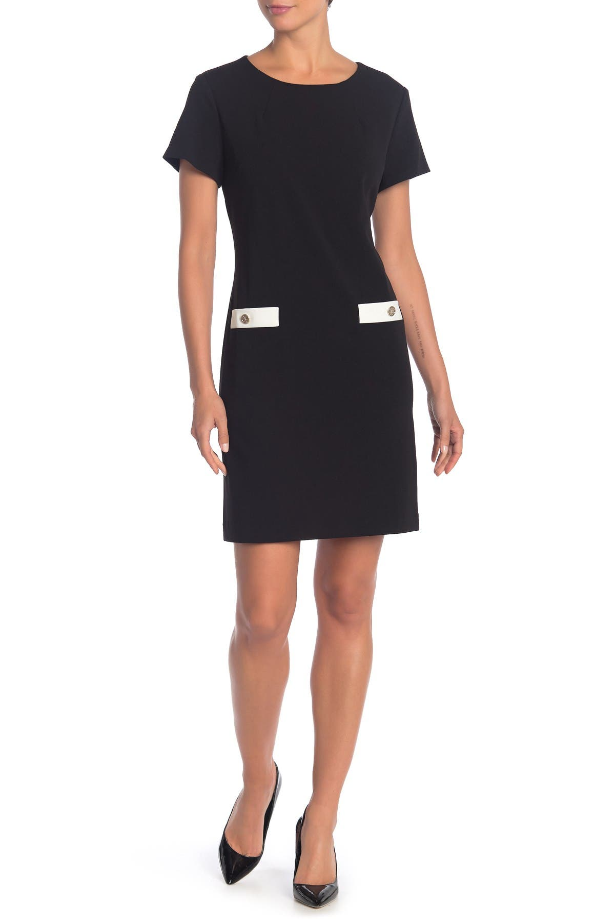 Image of Tommy Hilfiger Crew Neck Short Sleeve Dress