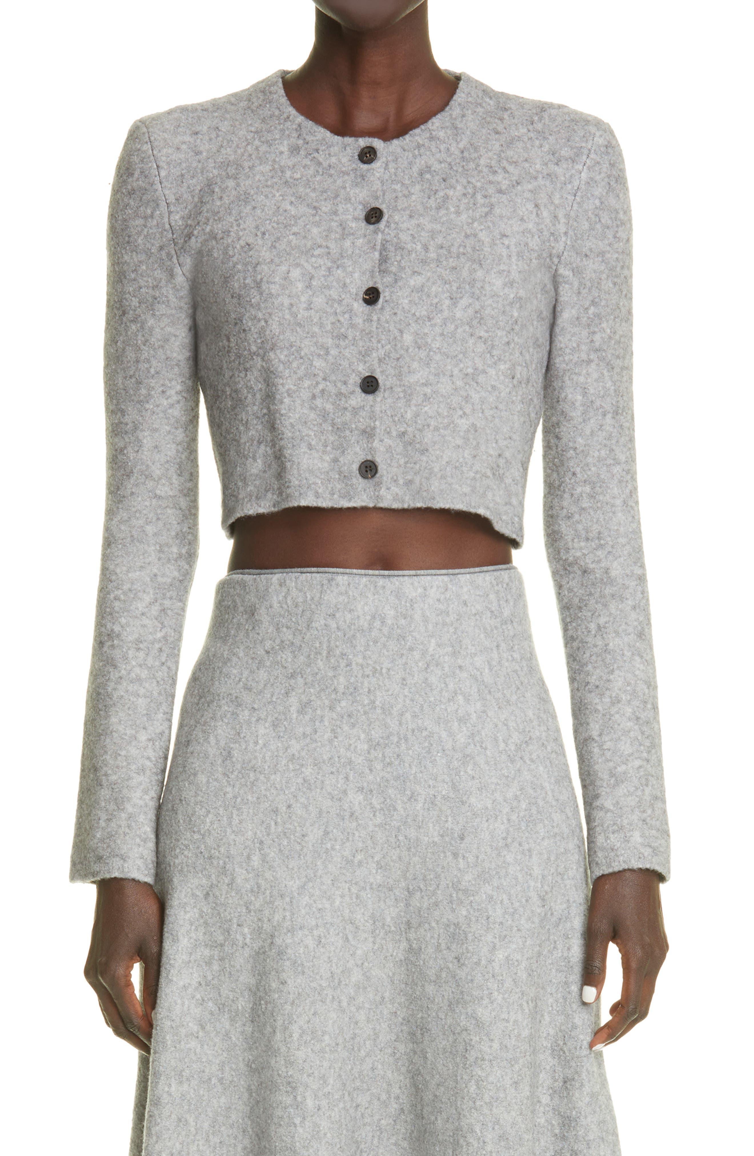 Tisca Crop Wool Blend Cardigan