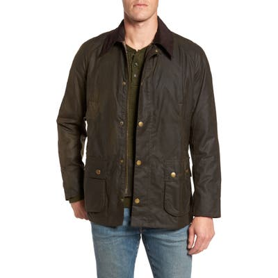 Barbour Ashby Wax Jacket, Green