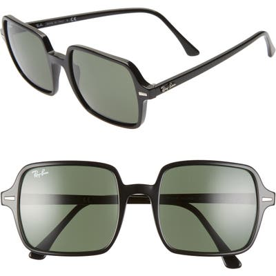 Ray-Ban 5m Square Sunglasses - Black/ Green Solid
