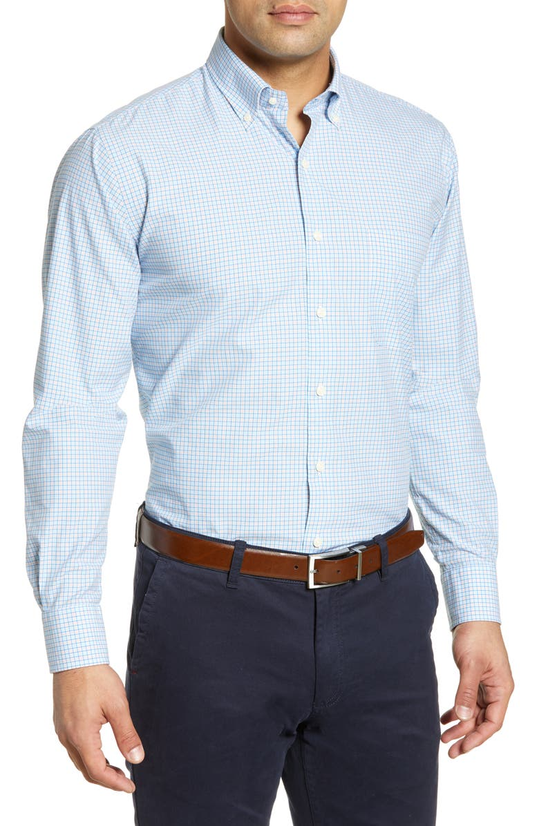 PETER MILLAR Sullivan Check Shirt, Main, color, 409