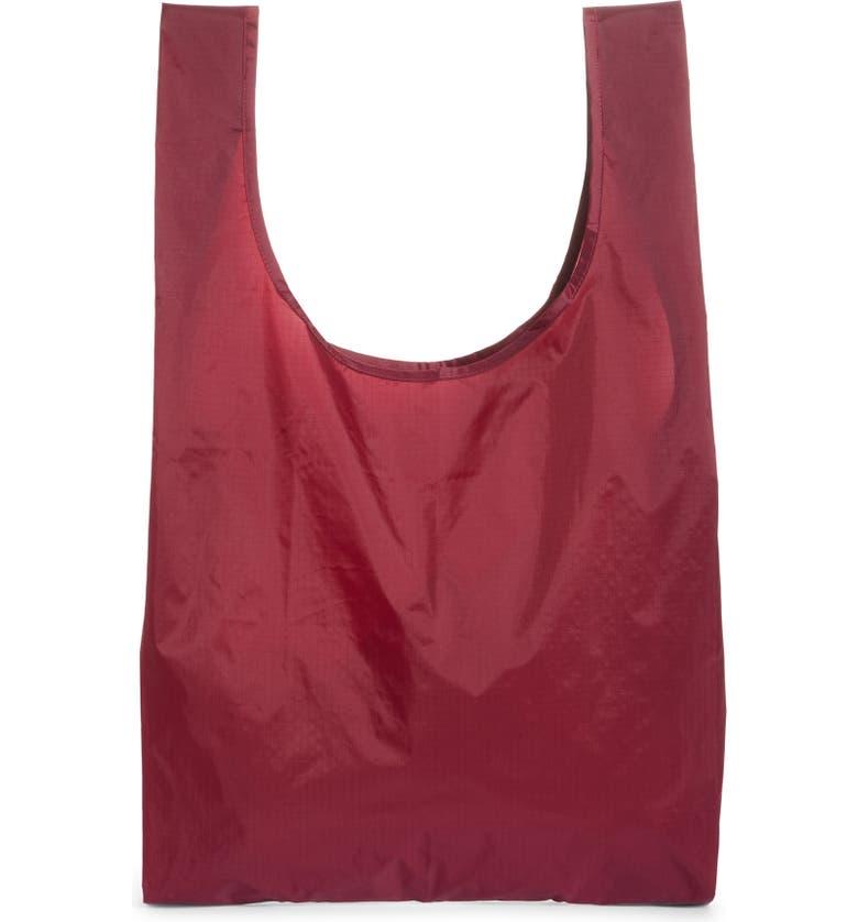 BAGGU <sup>®</sup> Nylon Tote, Main, color, CRANBERRY