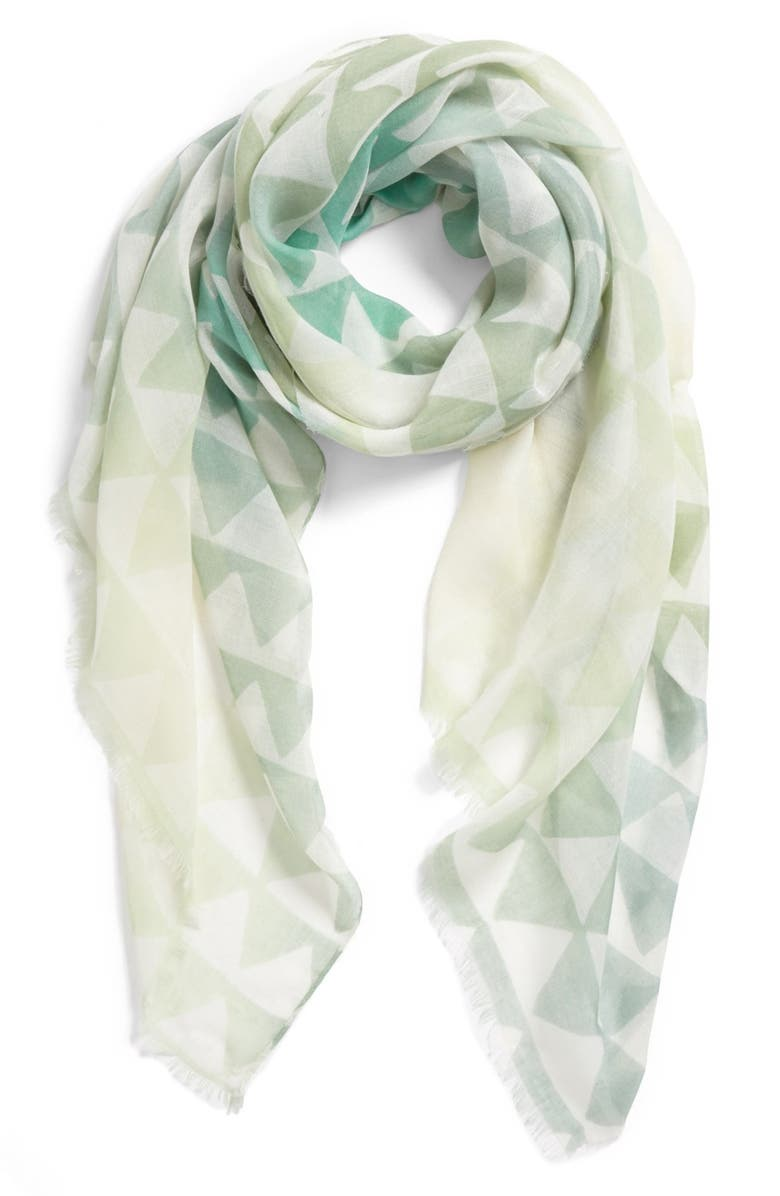 BP. Triangle Print Oblong Scarf, Main, color, 300