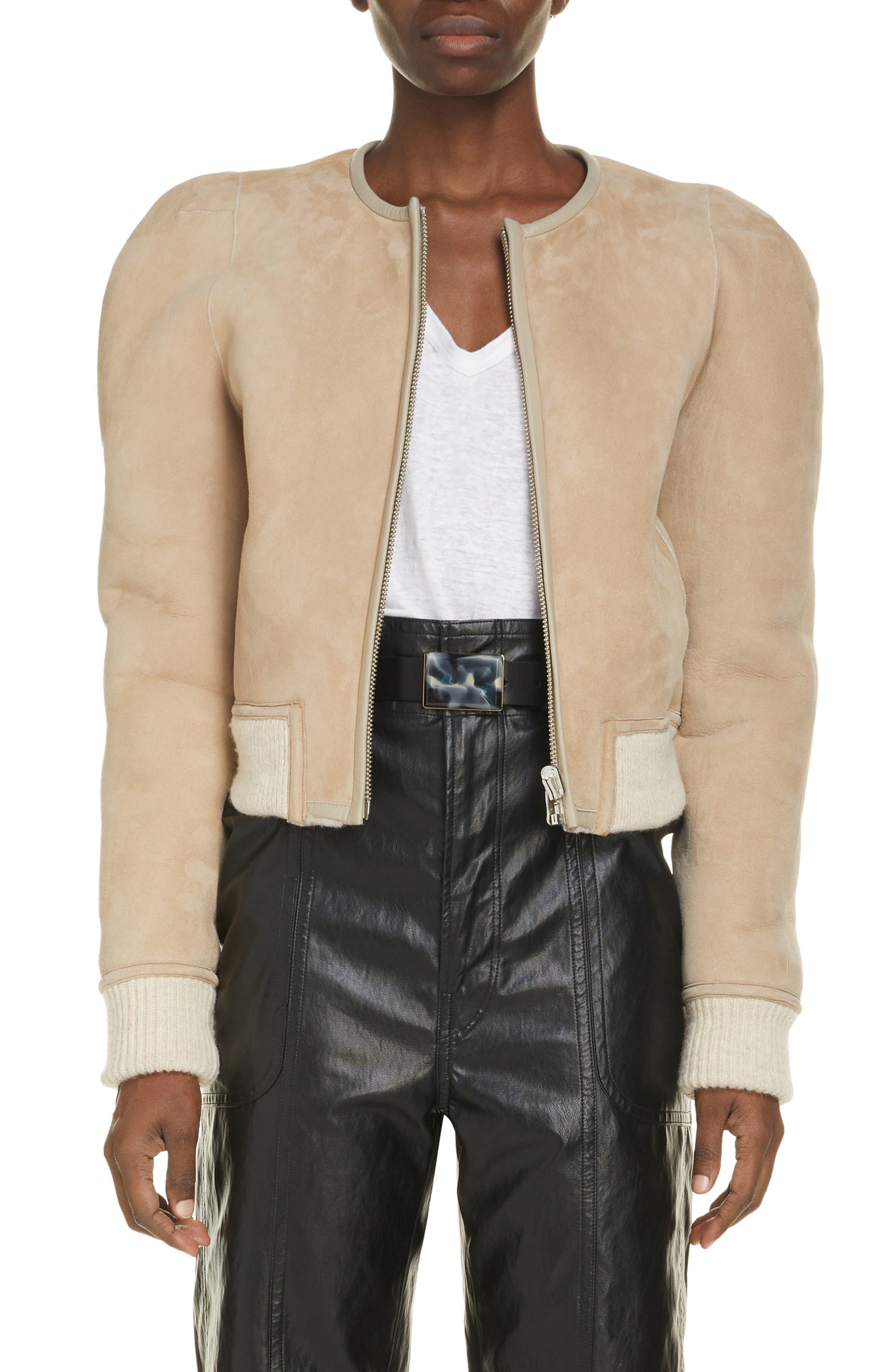 Women's Isabel Marant Etoile Boden Reversible Genuine Shearling Jacket