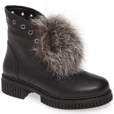 Sheridan Mia Thors Genuine Fox Fur Trim Boot - Black