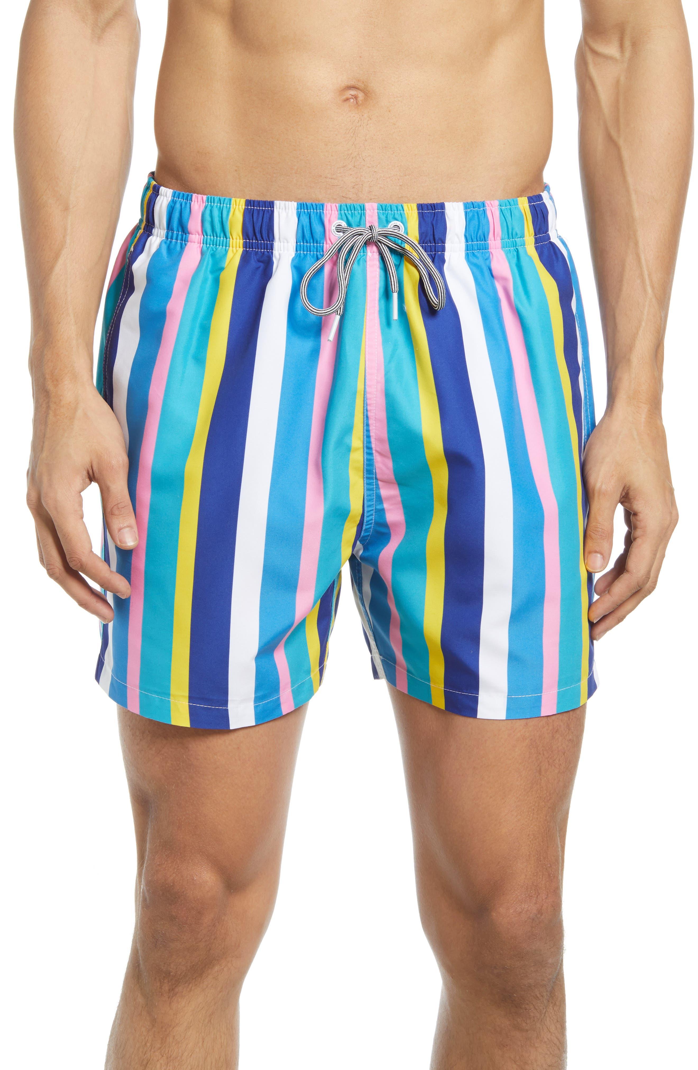 Crush Stripe Swim Trunks