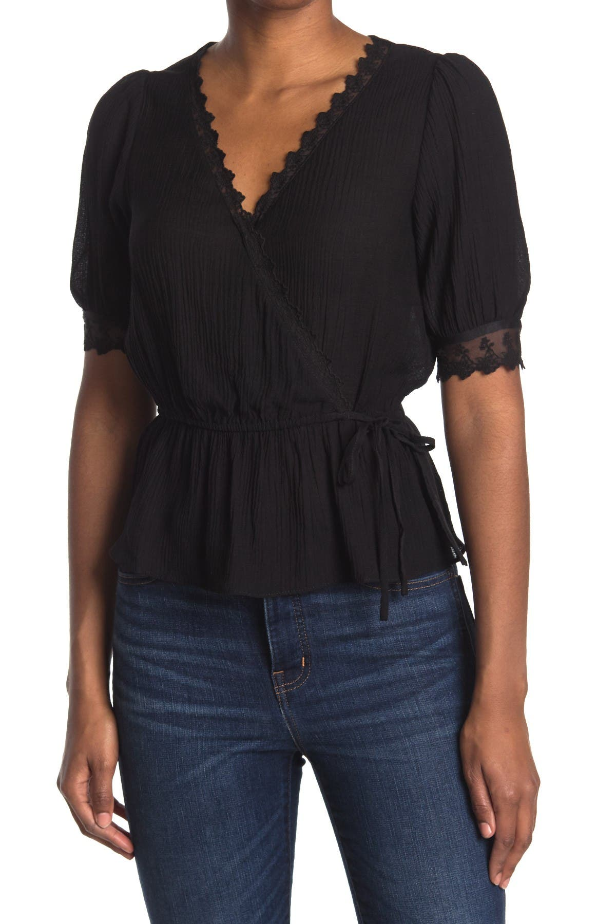Image of Lush Wrap Front Top