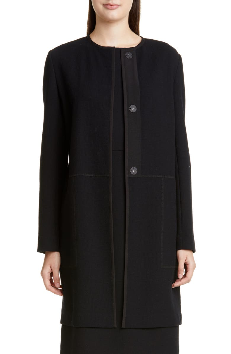 LAFAYETTE 148 NEW YORK Kierra Wool Jacket, Main, color, BLACK