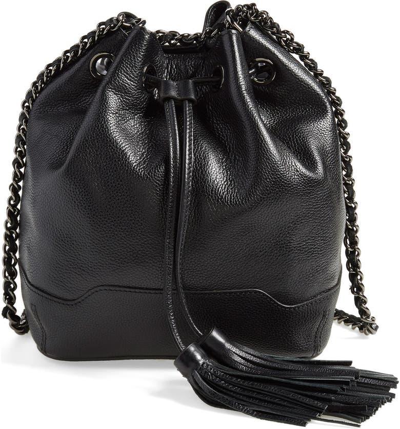 REBECCA MINKOFF 'Lexi' Bucket Bag, Main, color, 001