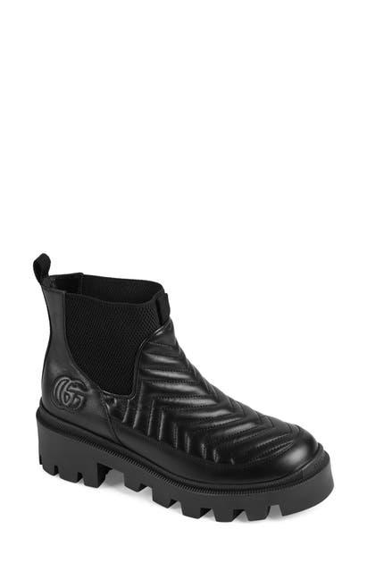 Gucci Leathers XXMM FRANCES MATELASSE CHELSEA BOOT