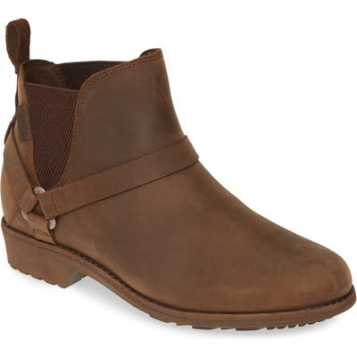 Teva Ellery Waterproof Chelsea Boot, Brown