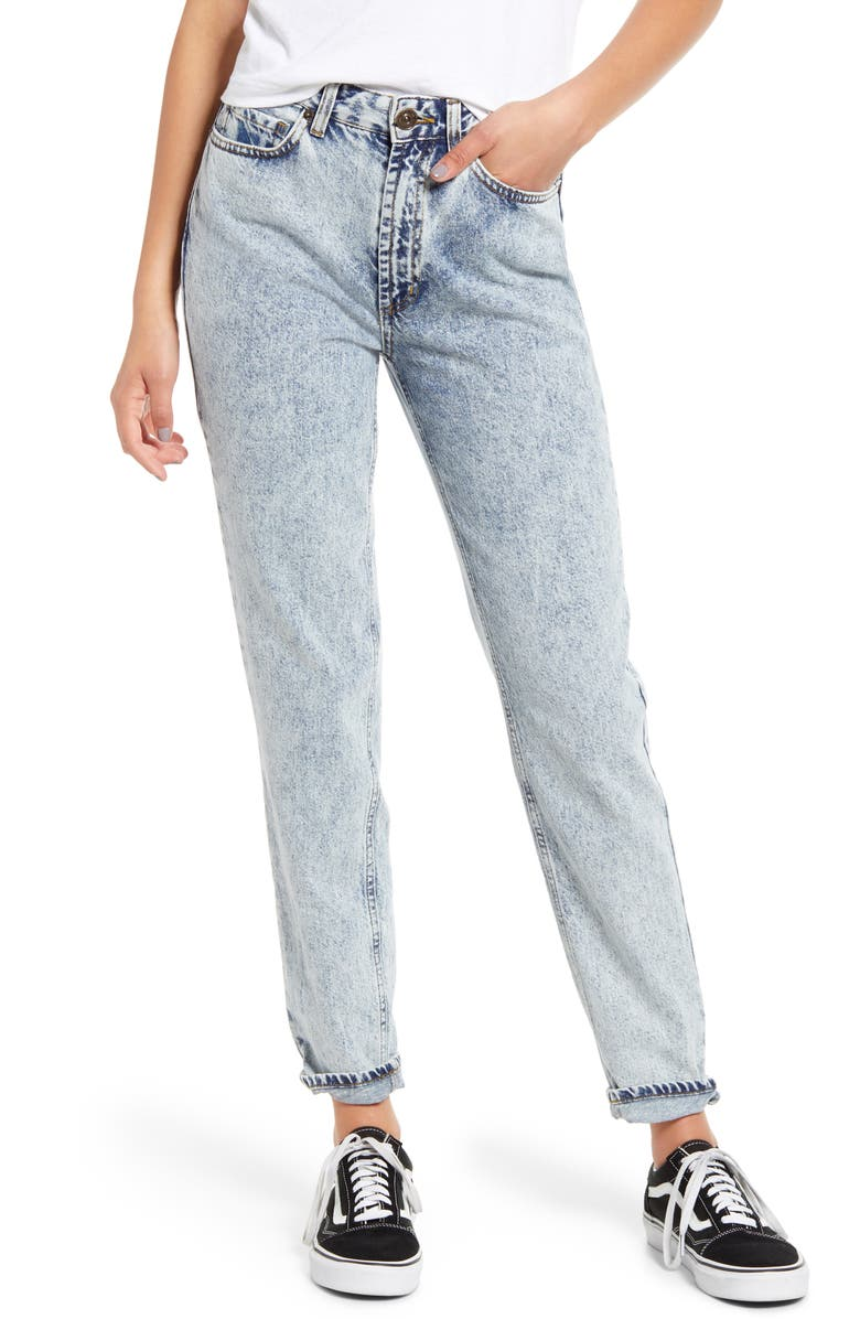BDG URBAN OUTFITTERS Mom Jeans, Main, color, BLUE