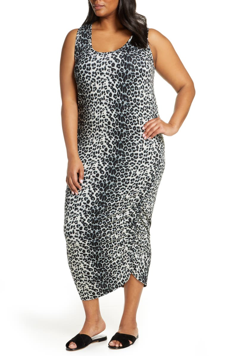 Loveappella Ruched Midi Tank Dress (Plus Size) | Nordstrom