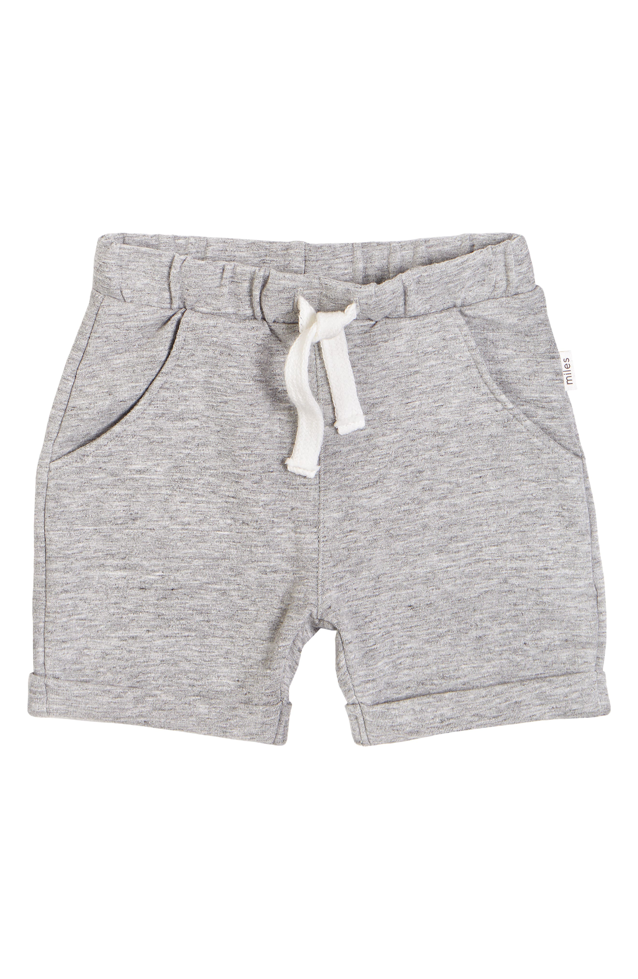 A stretchy waistband helps keep your little one comfortable in easygoing stretch-cotton shorts. Style Name: Miles Baby Organic Cotton Knit Shorts (Toddler & Little Boy). Style Number: 6004561. Available in stores.