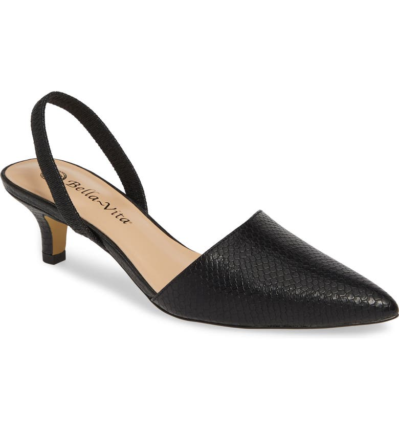 BELLA VITA Sarah II Slingback Pump, Main, color, BLACK SNAKE PRINT