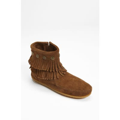 Minnetonka Double Fringe Boot- Brown