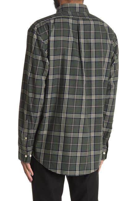Image of Brooks Brothers Tartan Plaid Print Regular Fit Shirt