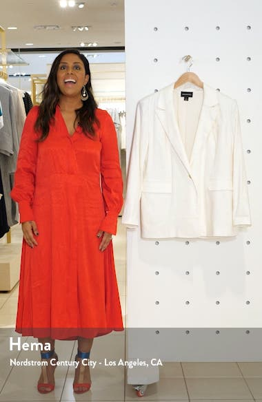 Oversize Linen Blend Blazer, sales video thumbnail