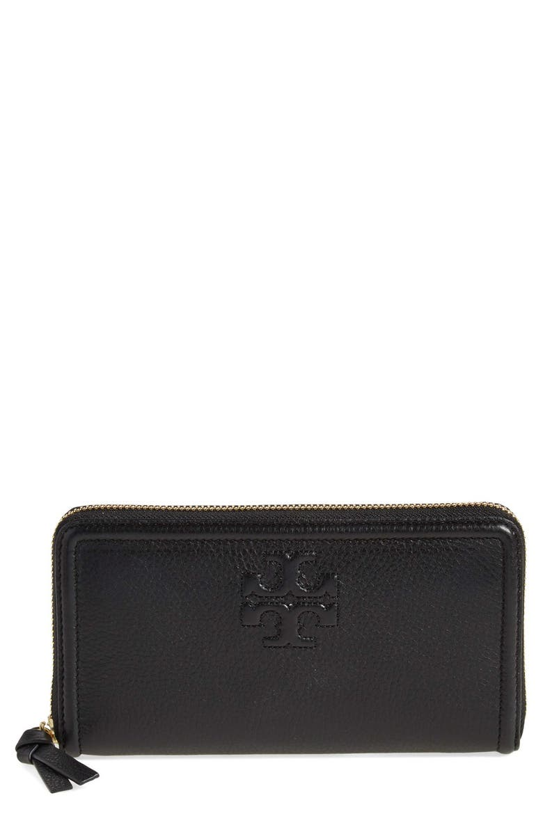 beaeedc29d Tory Burch 'Thea' Zip Leather Continental Wallet | Nordstrom