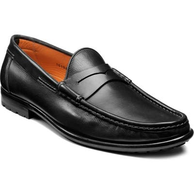 Santoni Ascott Penny Loafer - Black