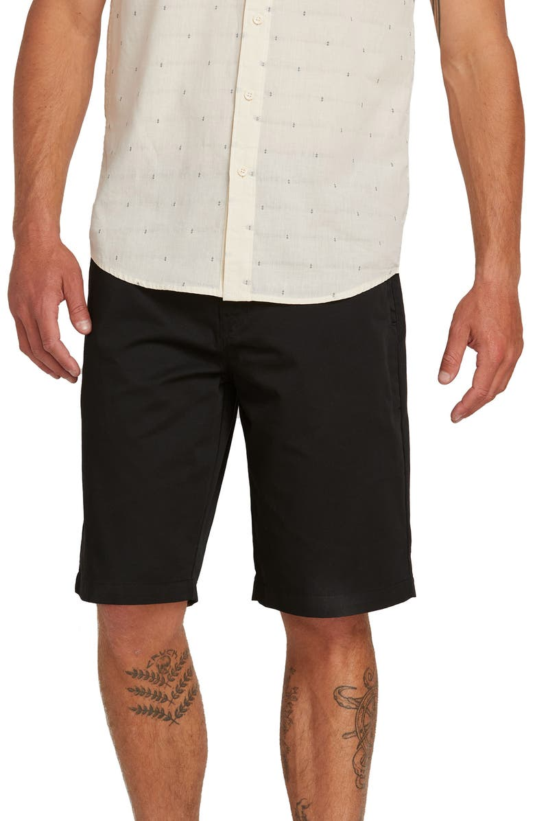 VOLCOM Chino Shorts, Main, color, 001