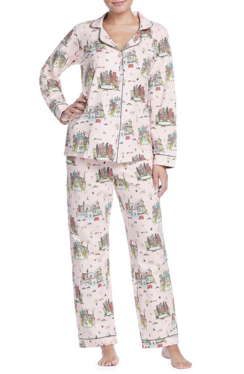 BEDHEAD PAJAMAS BedHead Classic Print Pajamas, Main, color, 130