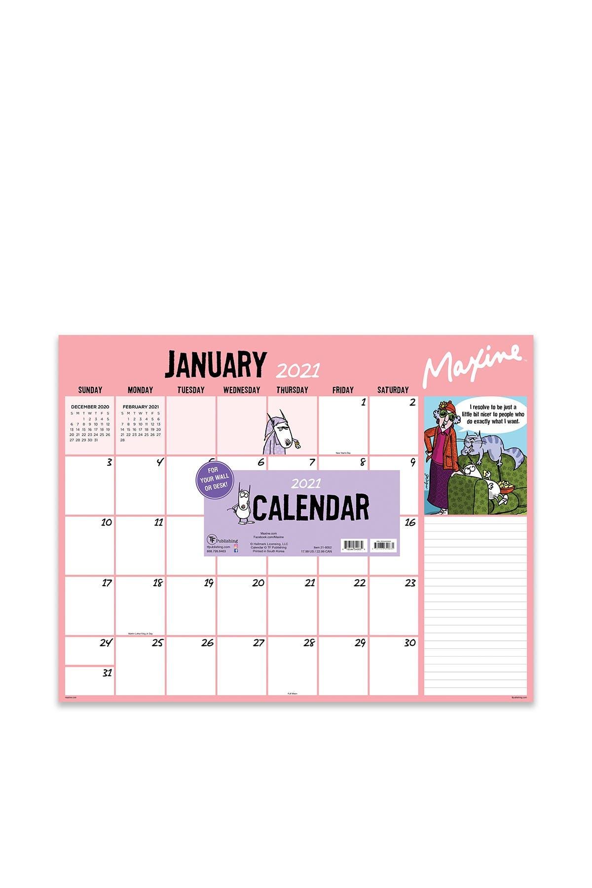 Image of TF Publishing 2021 Maxine Desk Pad Calendar
