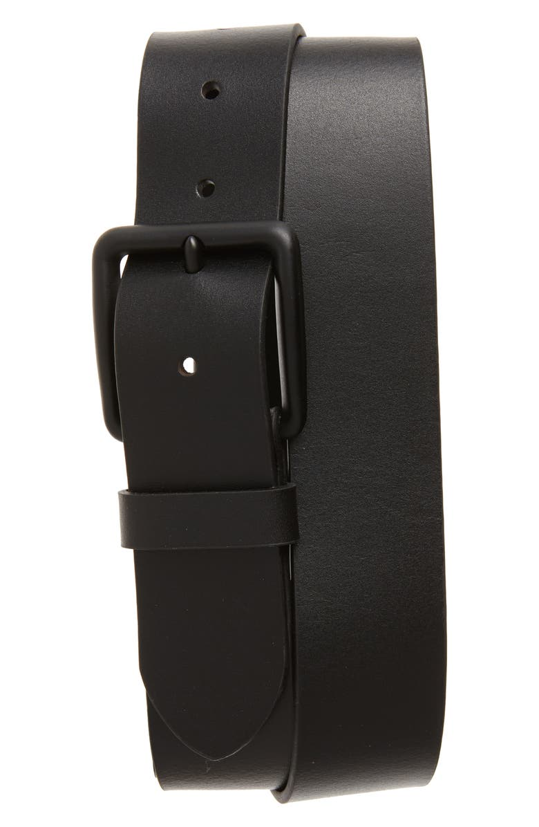 1901 Garrett Leather Belt, Main, color, BLACK