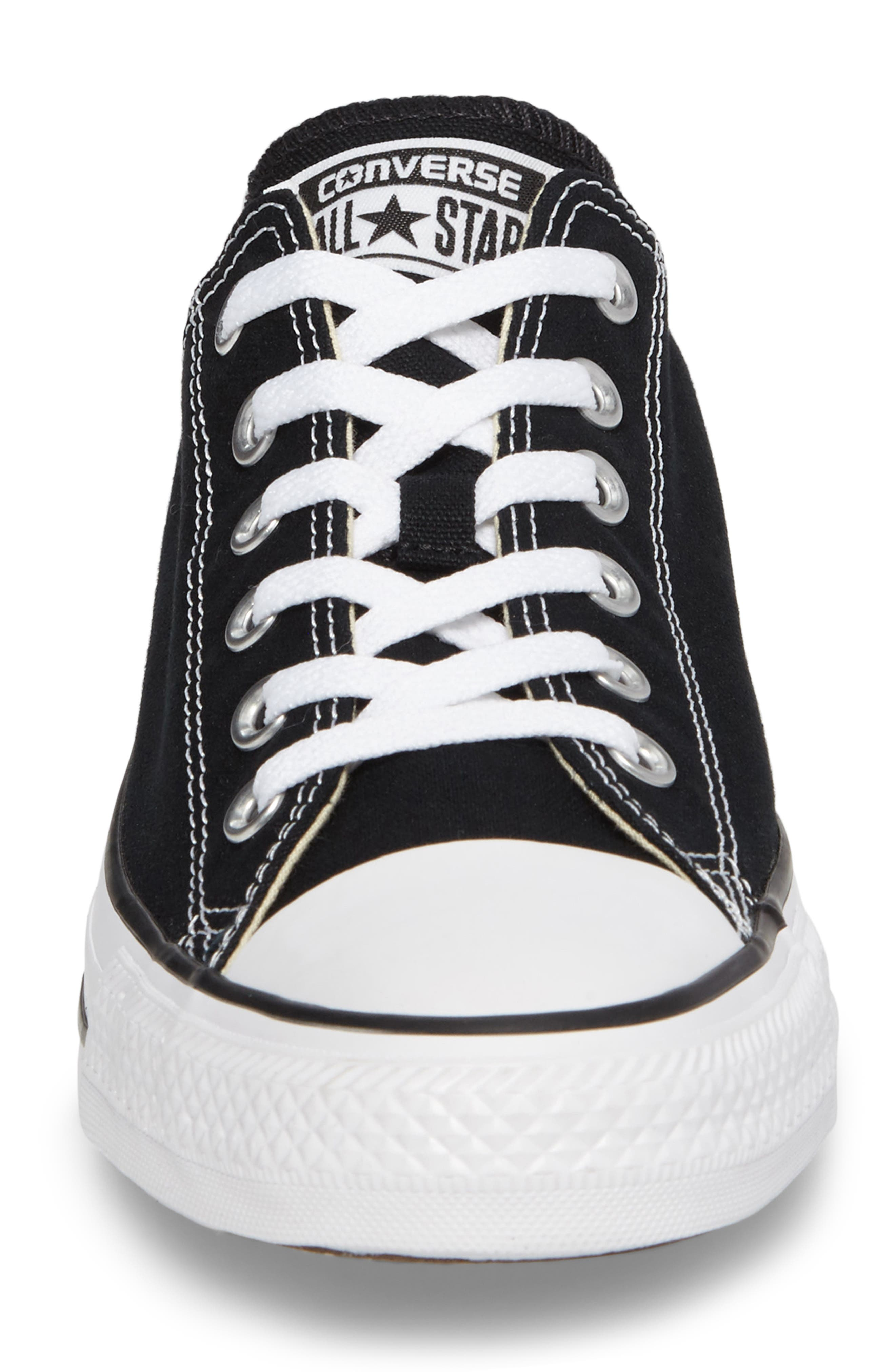 ,                             Chuck Taylor<sup>®</sup> Low Sneaker,                             Alternate thumbnail 4, color,                             BLACK