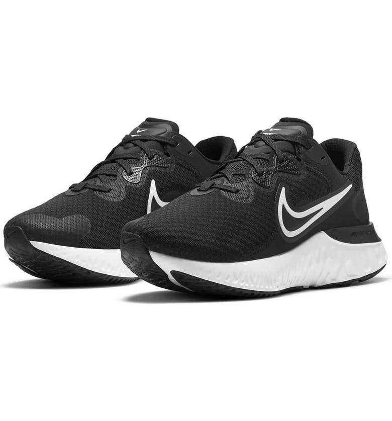 NIKE Renew Run 2 Sneaker, Main, color, 005 BLACK/WHITE