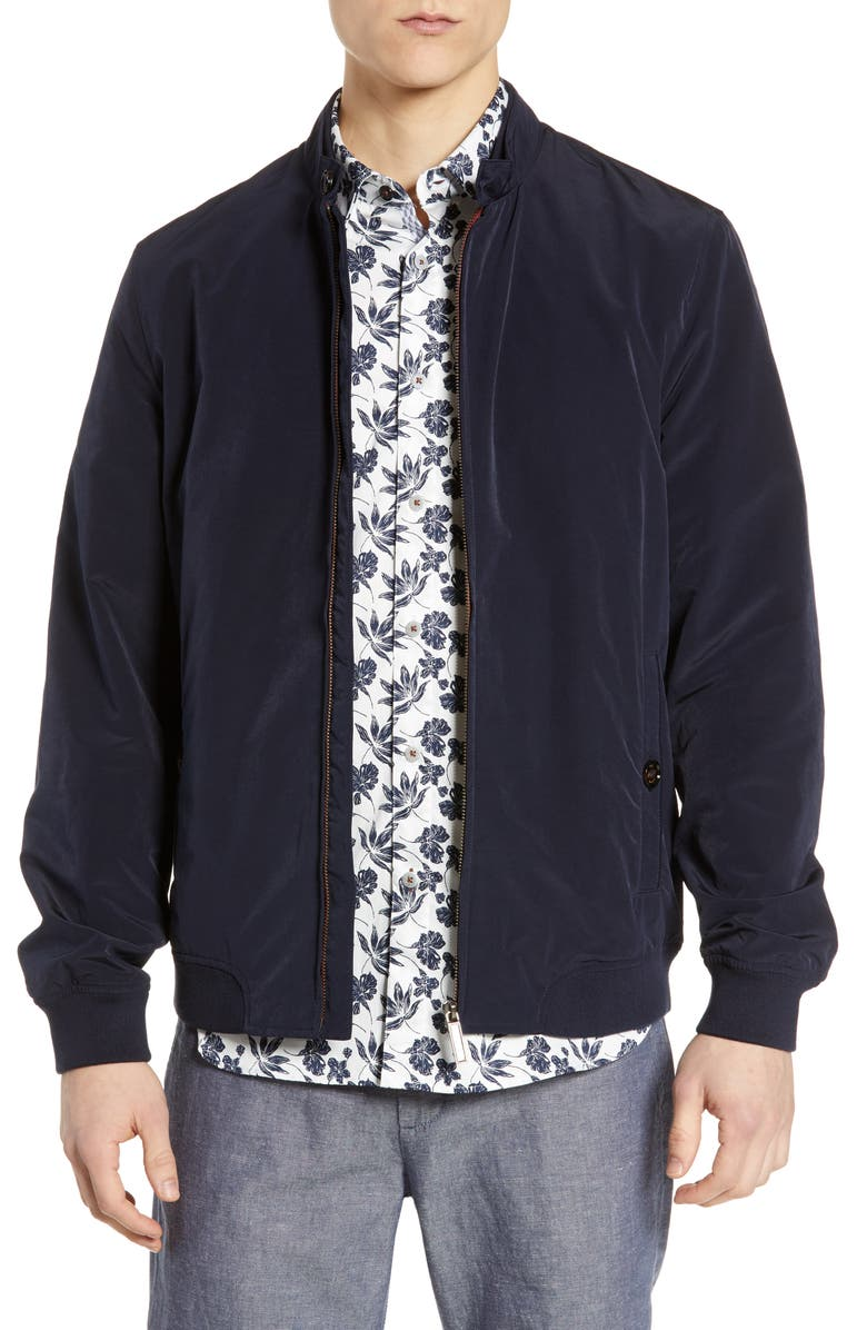 TED BAKER LONDON Aroma Slim Fit Bomber Jacket, Main, color, 410