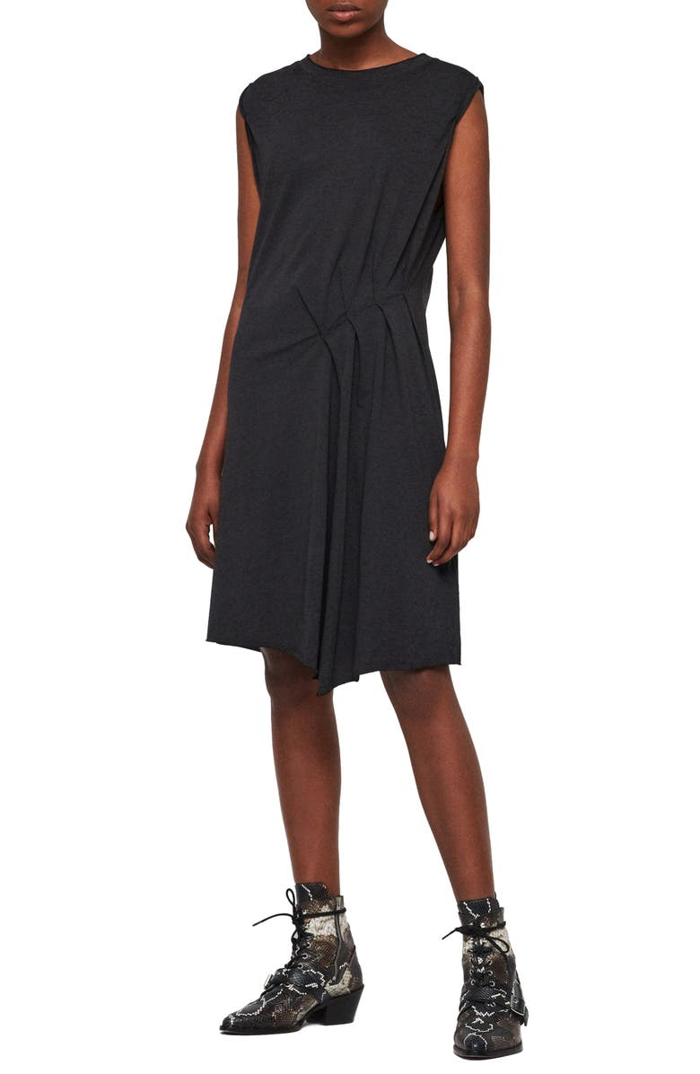 ALLSAINTS Duma Asymmetrical Dress, Main, color, DARK NIGHT BLUE