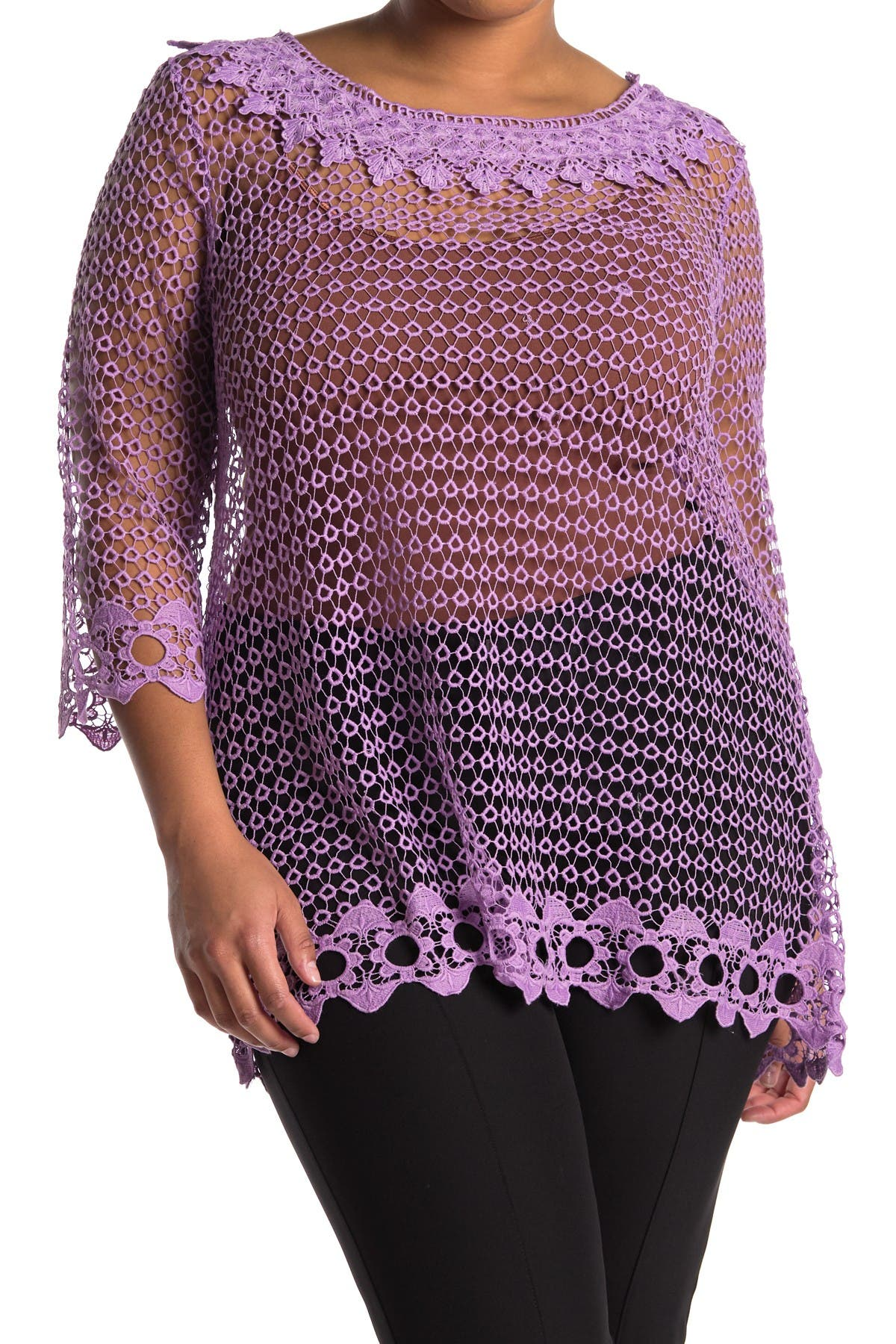 Image of Forgotten Grace Crochet Tunic Blouse