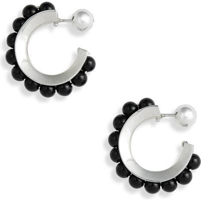 Sophie Buhai Onyx Hoop Earrings