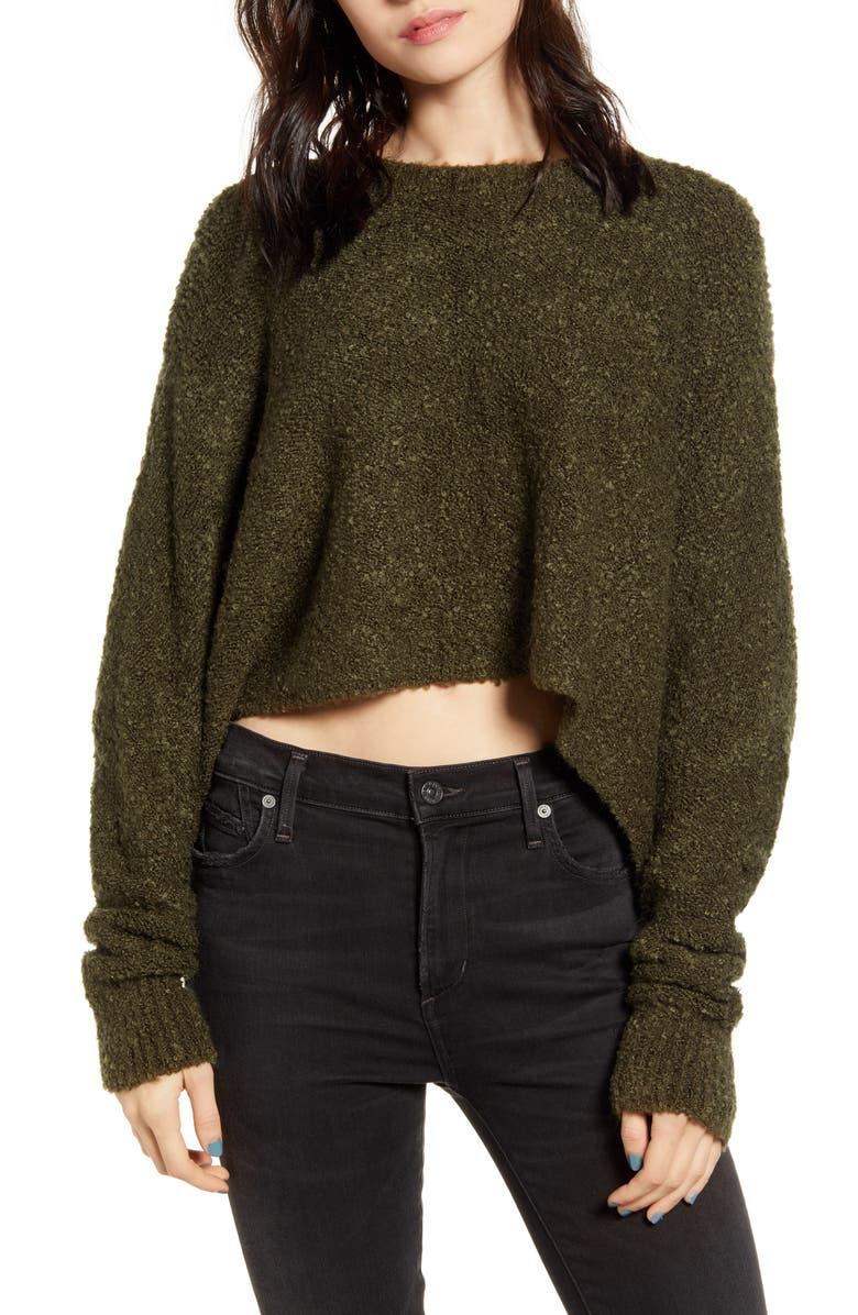 LIRA CLOTHING Mattie Crop Sweater, Main, color, OLIVE