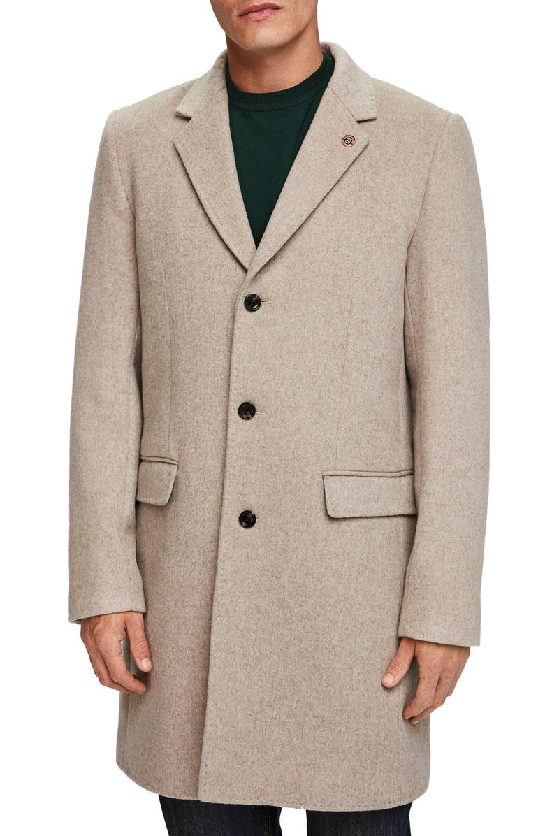 SCOTCH & SODA Regular Fit Classic Tailored Topcoat, Main, color, 260