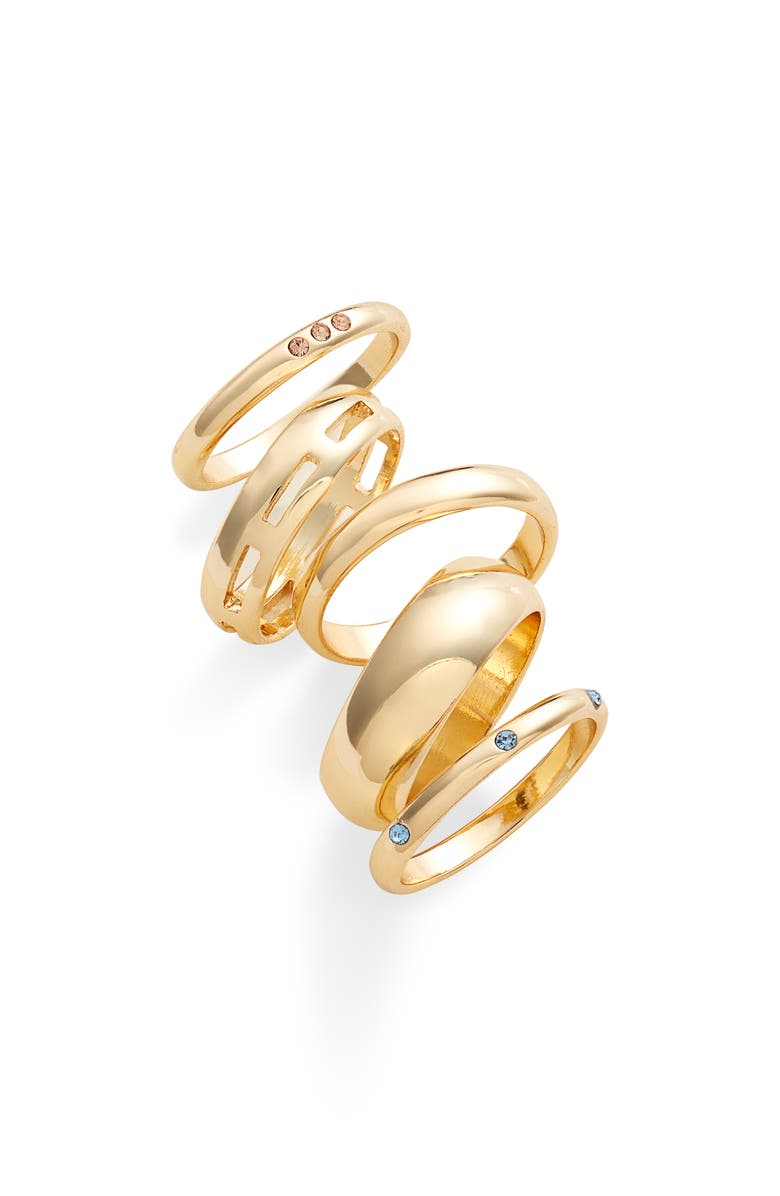 HALOGEN<SUP>®</SUP> Set of 5 Stacking Rings, Main, color, 999