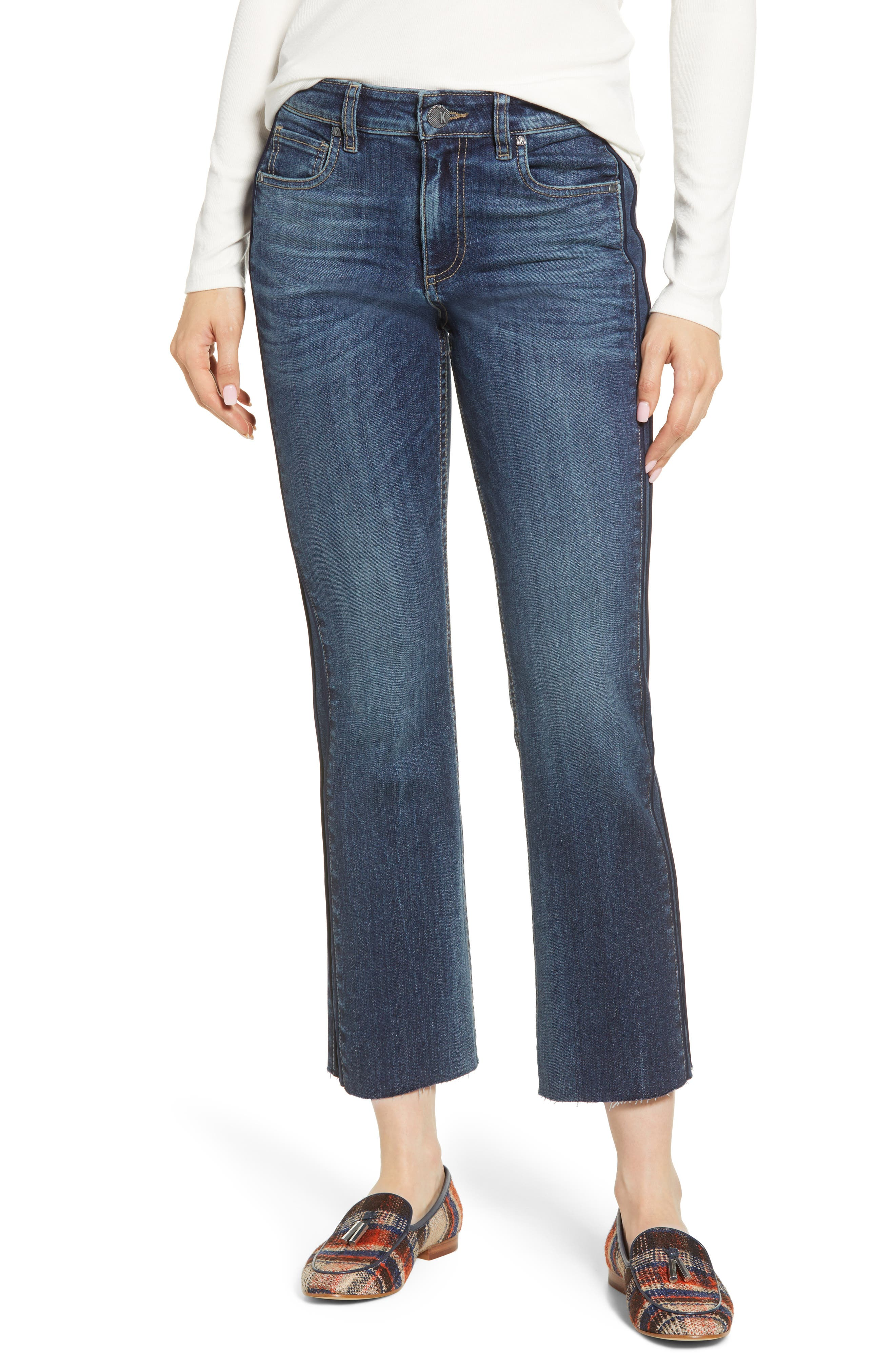 KUT from the Kloth Side Inset Ankle Flare Jeans (State)