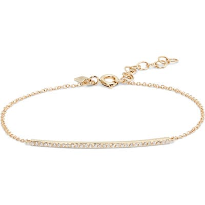 Ef Collection Adjustable Diamond Bar Chain Bracelet