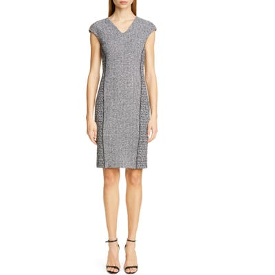 St. John Collection Abby Boucle Knit Dress, Grey