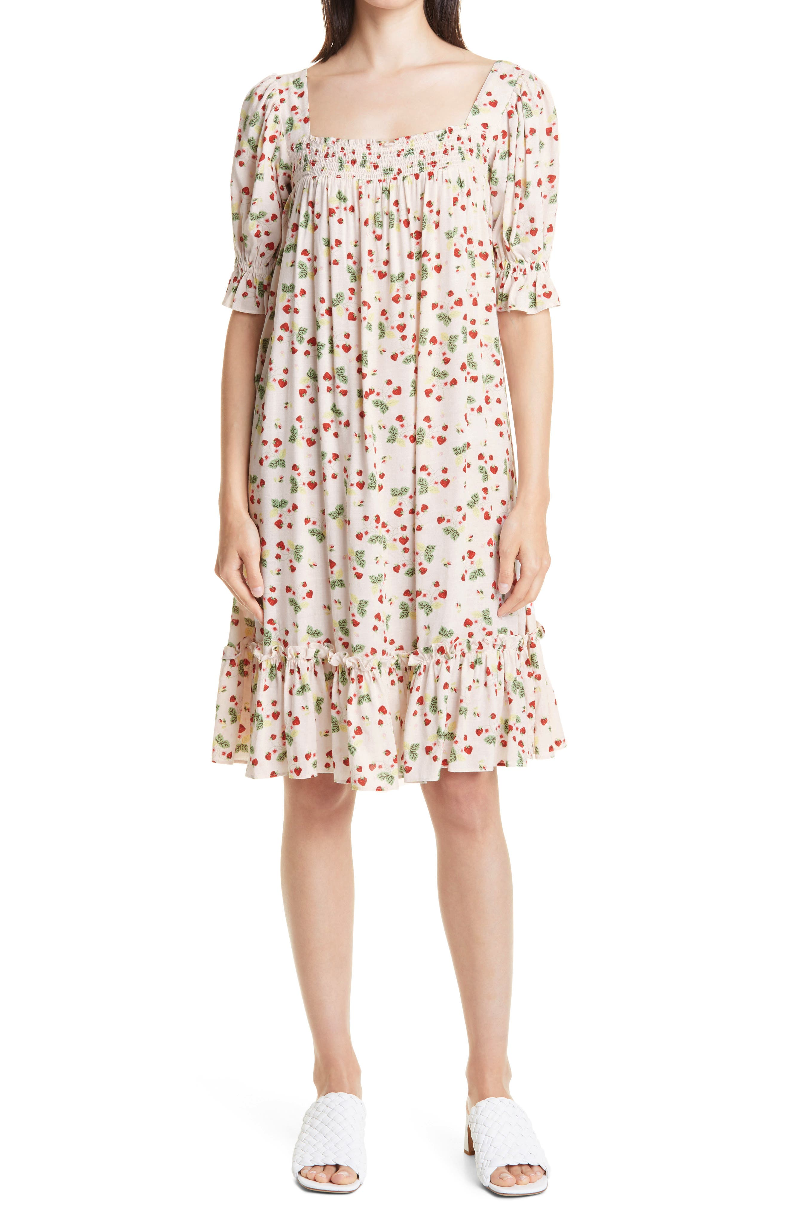 Smocked Yoke Babydoll Dress