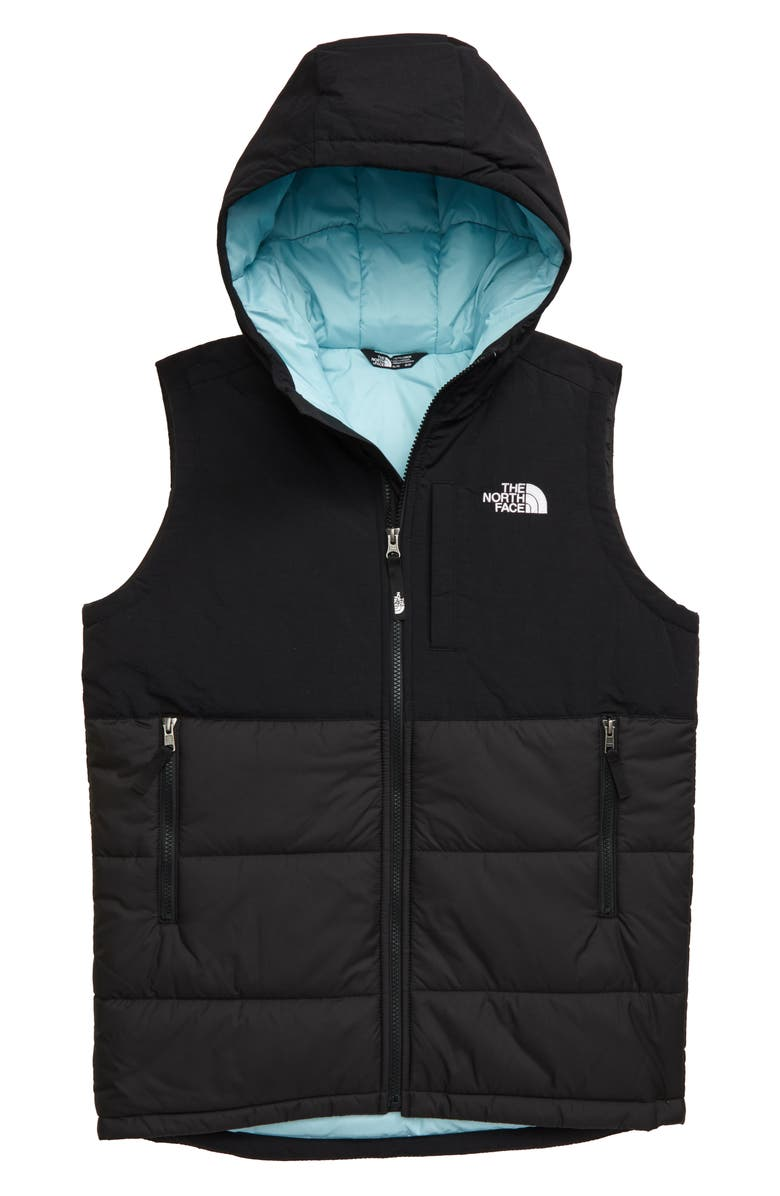 THE NORTH FACE Balanced Rock Heatseeker<sup>™</sup> Water Repellent Vest, Main, color, TNF BLACK/ WINDMILL BLUE