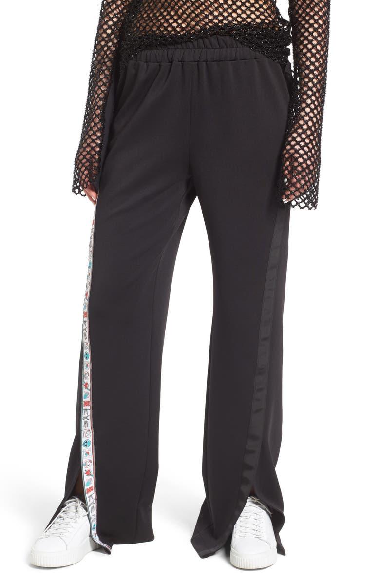 KYE Unisex Stretch Crepe Wide Leg Pants, Main, color, 001