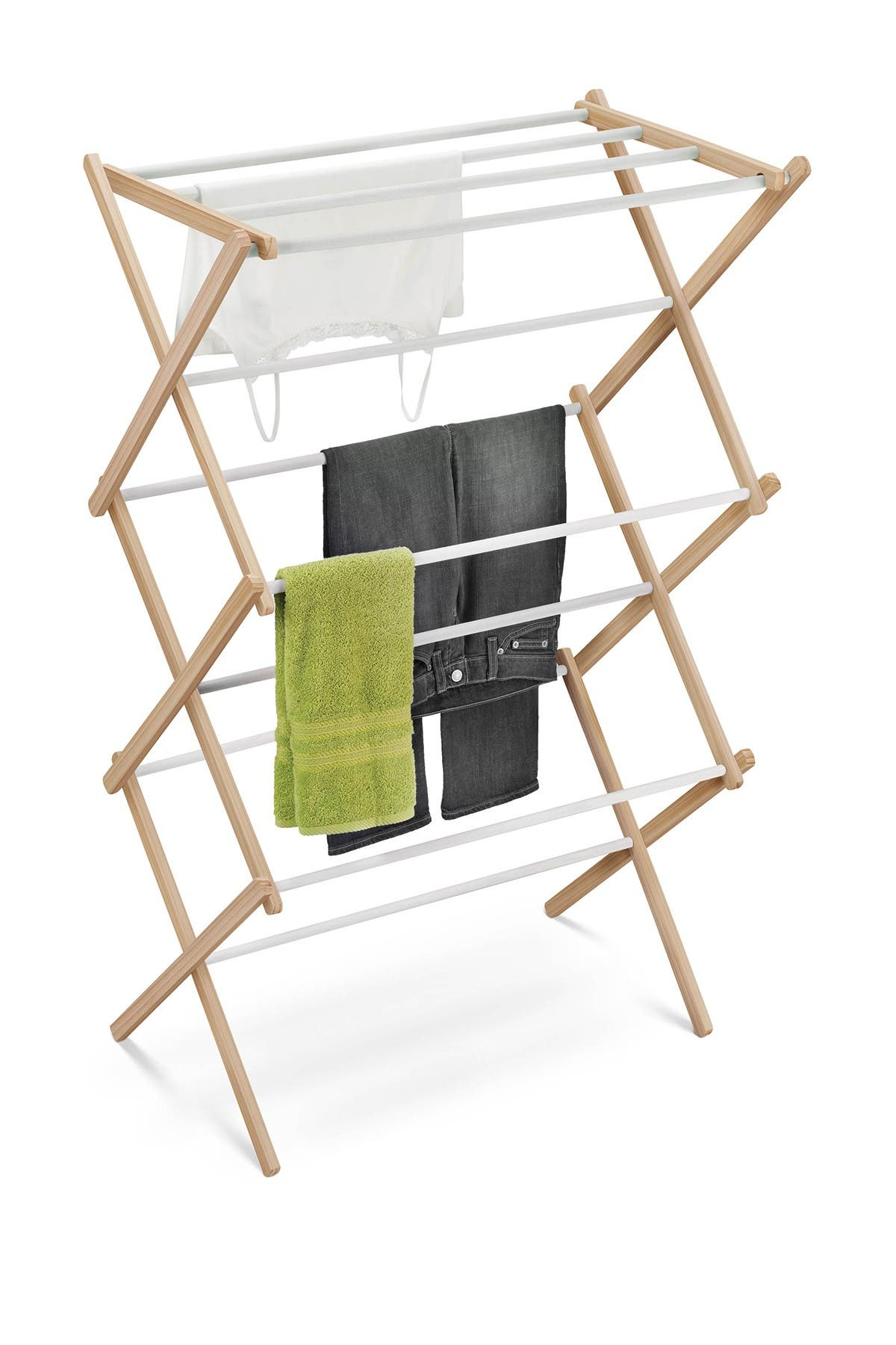 Image of Honey-Can-Do Wood Accordion Drying Rack