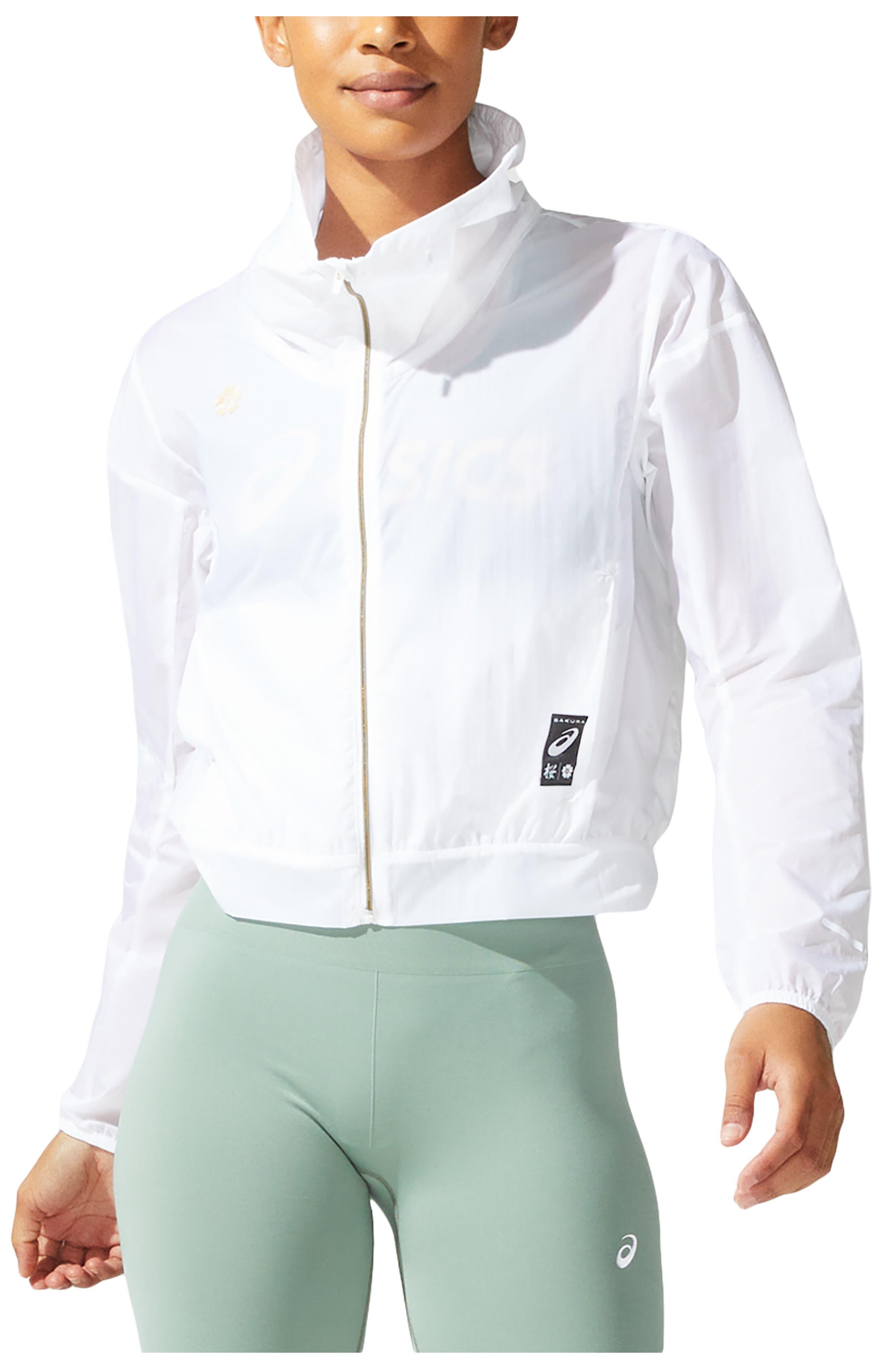 Women's Asics Sakura Water & Wind Resistant Hooded Jacket