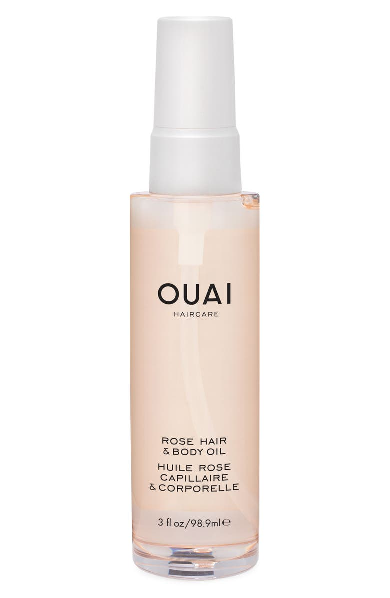 OUAI Rose Hair & Body Oil, Main, color, NO COLOR