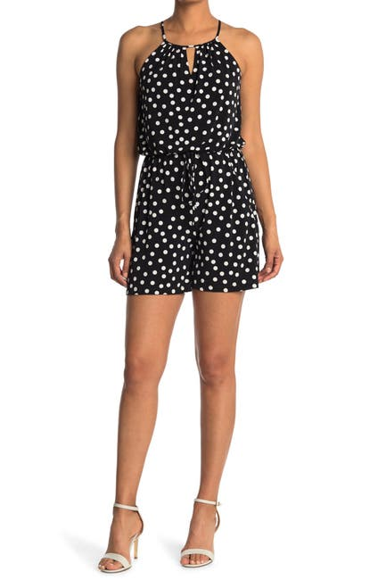 Image of London Times Galaxy Dot Jersey Halter Romper