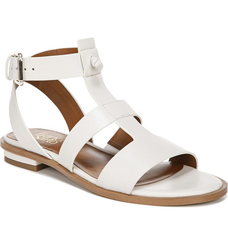 FRANCO SARTO Moni T-Strap Sandal, Main, color, PUTTY LEATHER